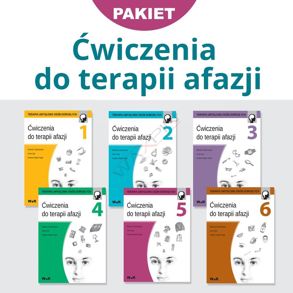 Pakiet ćwiczeń  do terapii afazji (części 1-6)